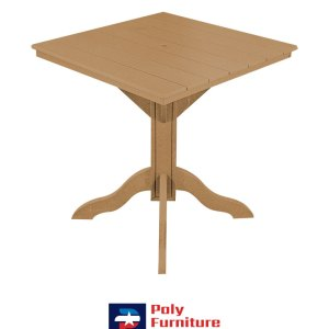 Amish Made Poly Furniture USA Counter Height Table Cedar