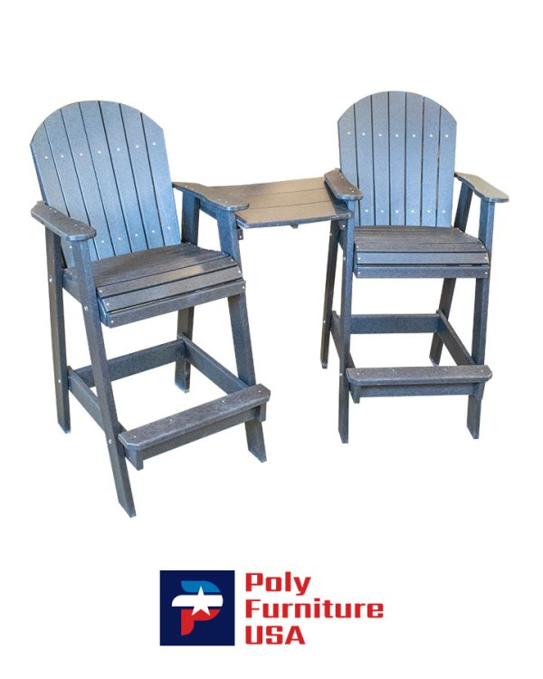 Poly Furniture USA - Bar Height Chair - Tete, Black
