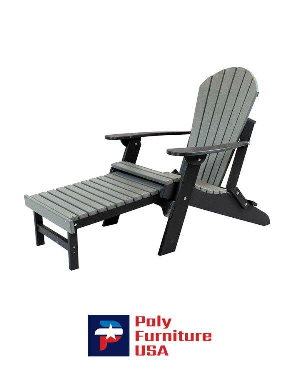 Amish Made Folding Adirondack Pullout Ottoman Chair