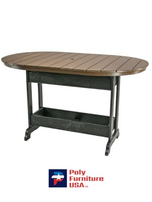 6' Bar Height Oval Table