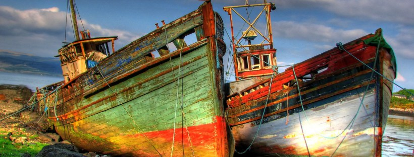 Shipwrecks in Scotland (from freeimages.com). Perhaps Doric was spoken aboard these vessels?