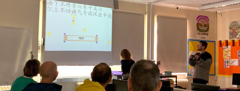 Learning Chinese with the Newby system at the MFL Twitterati Conference