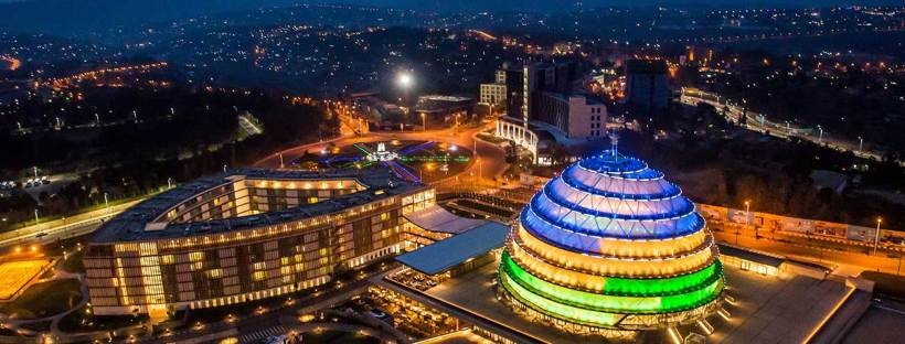 Kigali Conference Centre. Image by By Raddison - https://www.radissonblu.com/en/hotel-kigali, CC BY-SA 4.0, https://commons.wikimedia.org/w/index.php?curid=74779948