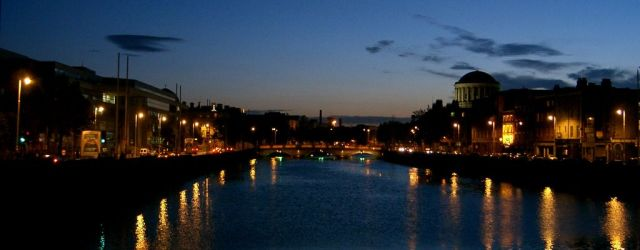 The Liffey, Dublin. Dublin City University provides some excellent MOOCs via the FutureLearn platform. Image from freeimages.com.