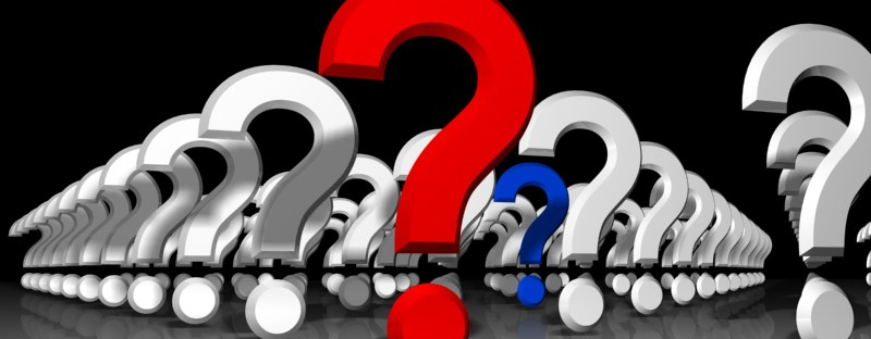 Question marks after a mix-up. Image from freeimages.com.