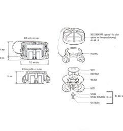 a10 valve spring collar and split bush specify colour  [ 2263 x 2263 Pixel ]