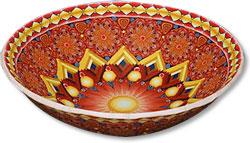 Noyes red bowl