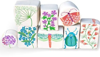 Cecile Bos will combine these elements into a garden scene on PolymerClayDaily.com