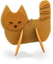 Cat Szetu's lightweight and fun tree ornaments on PolymerClayDaily.com