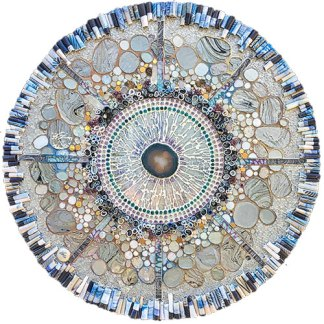 "Susan Crocenzi's 30"" mixed media Radiate brought her client to tears on PolymerClayDaily.com"