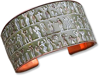Christine Damm's Ancient Peoples polymer cuff