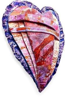 Christine Damm binds her hearts on PolymerClayDaily.com