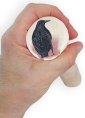Edith Fischer Katz finds a crow in her clay on PolymerClayDaily.com