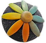 Fleichtinger's polymer brooch in graduated colors