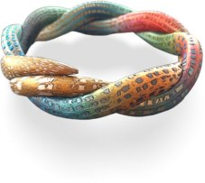 Jana Honnerova's bracelets shine with metallic bits on PolymerClayDaily