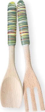 Jane Cox turns simple wooden kitchen utensils into special gifts on PolymerClayDaily.com