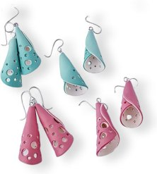 Kate Lee Foley's see-through bell earrings on PolymerClayDaily