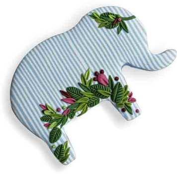 Elephants revisit Inga Rozenberga's studio (Kni-Kni) on PolymerClayDaily.com
