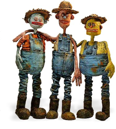 Kratzner's small farmers on PolymerClayDaily.com