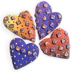 Ron Lehocky's dimensional hearts taste yummy on PolymerClayDaily.com