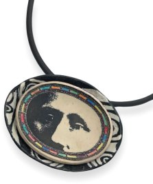 Linda Loew begins with a bowl that becomes a pendant on PolymerClayDaily