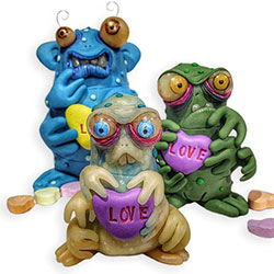 Nicole Johnson's love bugs scramble away quickly on PolymerClayDaily.com
