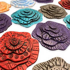 Libby Mills lets nature inspire her world of geometry on PolymerClayDaily