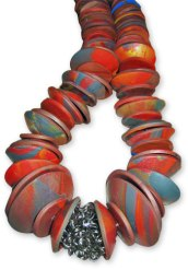 Kylee Milner's autumn disk necklace