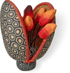 Tracy Feldwick's bloom opens on PolymerClayDaily.com