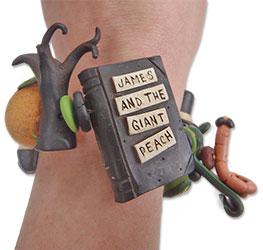 Sandra Mitchell's polymer story bracelet