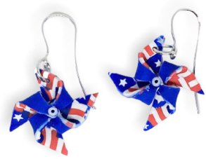 Ginnie Parrish's pinwheel earrings go vote on PolymerClayDaily.com