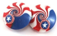 Shuli Raanan's star canes turn into patriotic beads on PolymerClayDaily.com