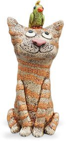 Michelle Sansonetti spontaneously creates Monday's cat on PolymerClayDaily.come