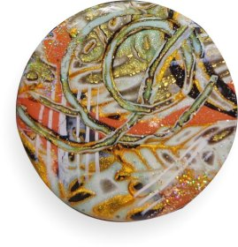 Sherri Kellbert encases polymer and metallics in resin on PolymerClayDaily.com