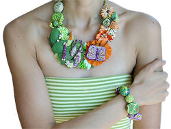 Vee Stevens polymer necklace