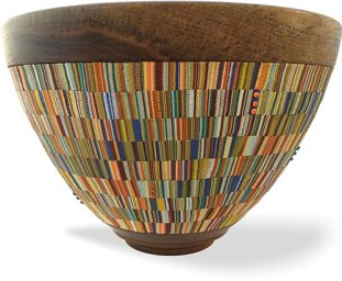 Cynthia Tinapple dusts off old bowls and adds new on PolymerClayDaily