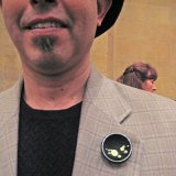 David Vanover wears a beret and a Belcher pin