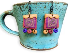 Angie Wiggins brings us back to reality with her down-home earrings on PolymerClayDaily.com
