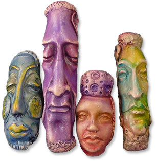 About face in polymer  Polymer Clay Daily