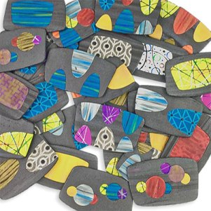 Lynn Yuhr expands the uses of colored liquid polymer on raw clay on PolymerClayDaily