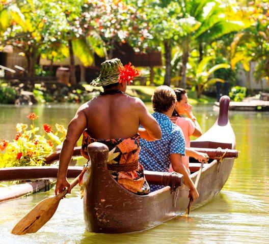 Canoe ride at The Polynesian Cultural Center