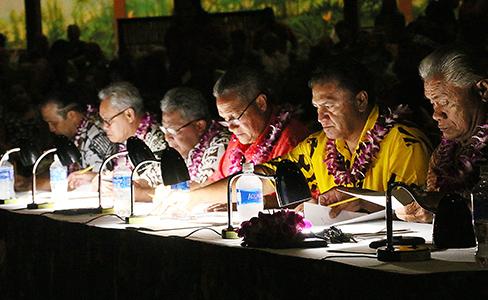 PCC Samoan World Fireknife Championship 2017 judges