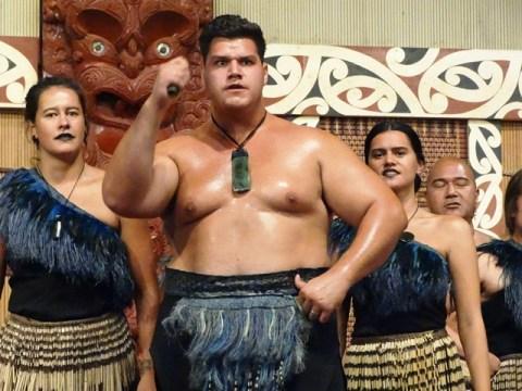 Photo of Maori villagers performance