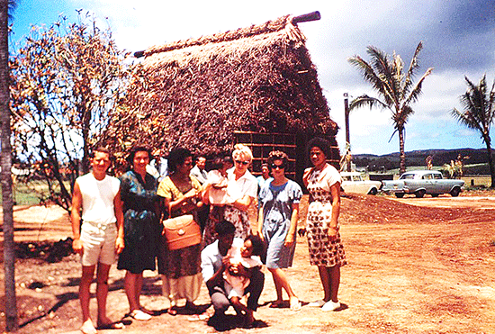 Polynesian Cultural Center Fijian Village, summer 1963