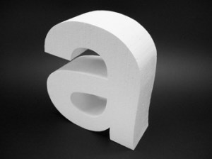 3d yellow 2 polystyrene letters polystyrene letters and logos makers of quality display 934