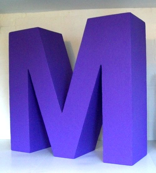fibreglass-letter-m-915mmhigh-305mmthick