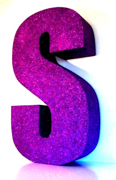 big-purple-glitter-letters