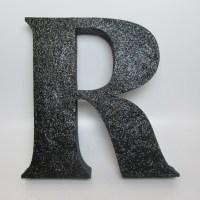 black-glitter-letters