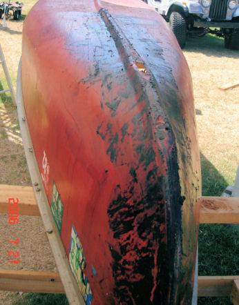 Canoe crack repair