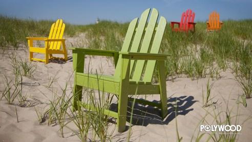 adirondack chairs in desert wallpaper